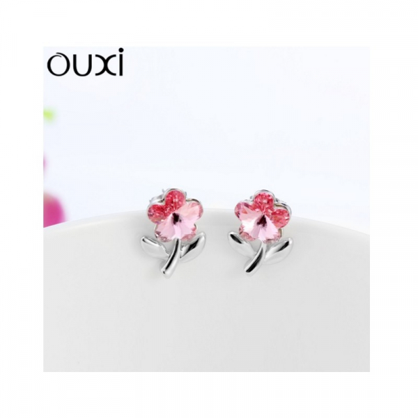 Ouxi - 20679-1 - Boucles d'oreilles ornées de cristal SWAROVSKI ELEMENTS Purple red