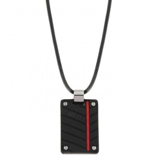 Lotus Style - LS1681-1/2 - Collier Homme - Rouge