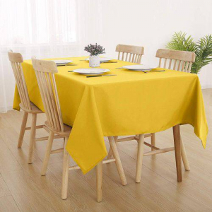 Nappe De Table Anti-Tache - 140*250 Cm - Jaune