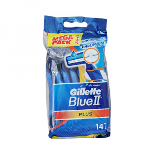 Rasoir Jetable Gillette Rasoirs Jetables Blue II Plus 10+4