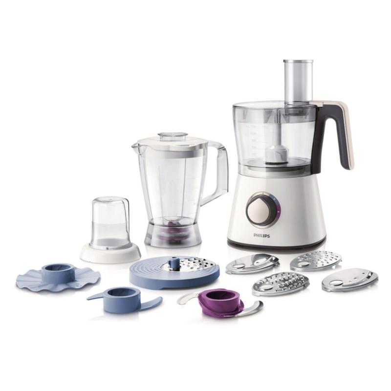 Philips - HR7761/00 - Robot Viva Collection Blanc 750 W Bol + Blender + Hachoir