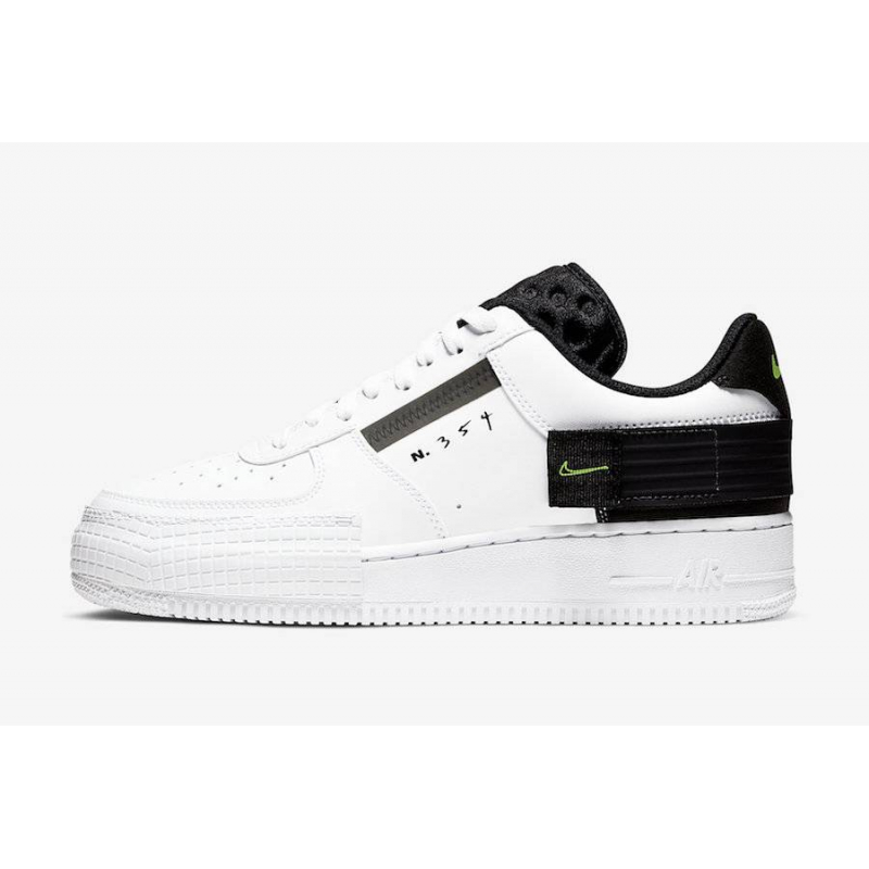 Baskets Pour Homme Air Force 1 Type White Black - AT7859-101