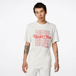 T-Shirt Homme Converse Graphic Renew - Blanc & Rouge
