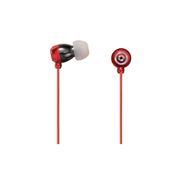 Hama - Ecouteurs intra auriculaires micro Style Rouge