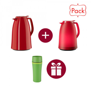Pack Mambo 2 Pichet Isotherme 1.5L Rouge + Travel MUG Offert