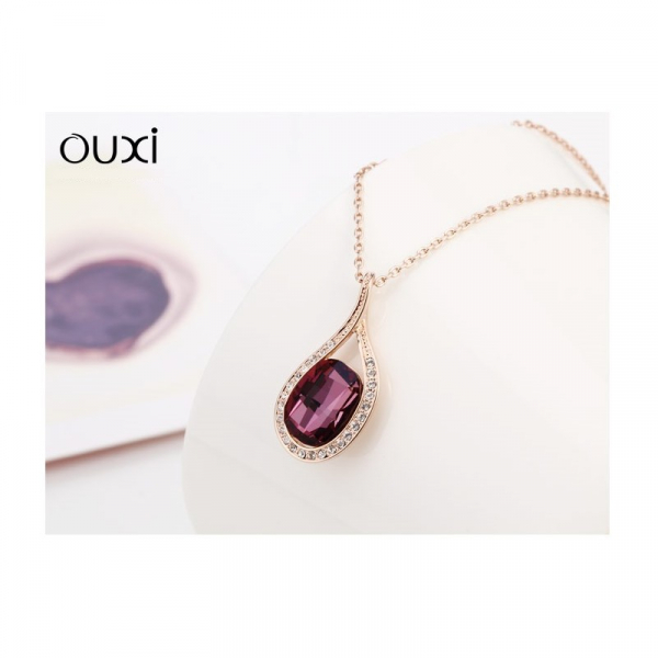Ouxi - 10673-2 - Collier orné de cristal et zircons SWAROVSKI ELEMENTS Rose